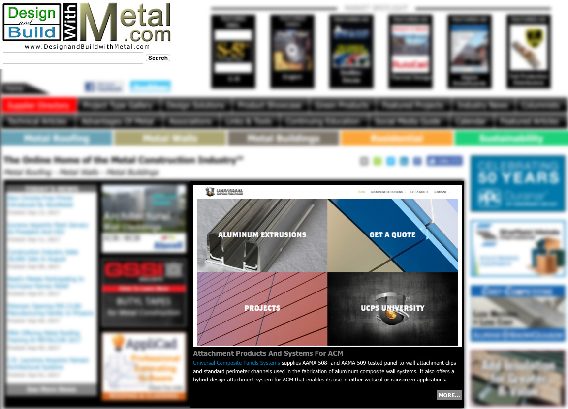 Check us out on Design & Build with Metal!